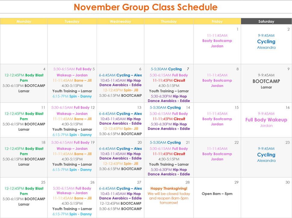 November Group Exercise_2019_10.30.19